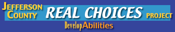 Logo for Jefferson County Real Choices Project - Develop Abilities.